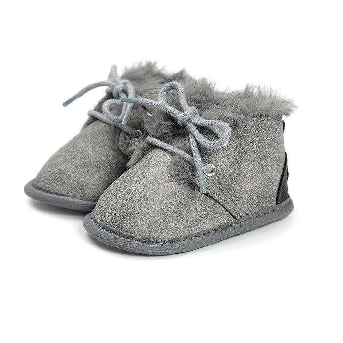 森林寶貝屋~灰色休閒保暖鞋~學步鞋~幼兒鞋~寶寶鞋~嬰兒鞋~學走鞋~童鞋~綁帶設計~保暖舒適~彌月贈禮~特價1雙175元
