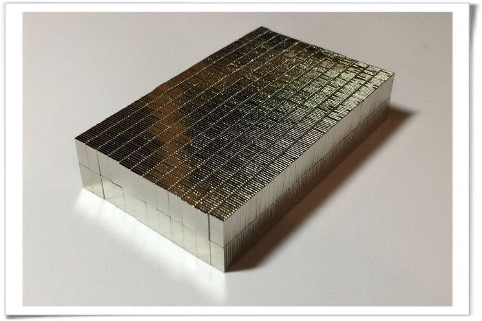 方形薄形強力磁鐵-10mmx5mmx0.8mm--磁吸式手機殼蓋或卡片很適用哦!