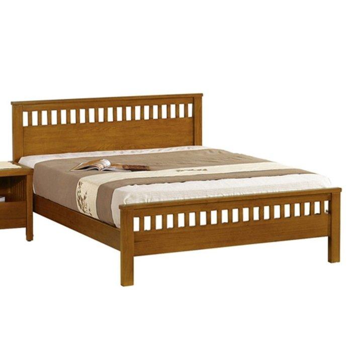 【DH】貨號N034-5名稱《維娜》6尺精製柚木色實木單人床架(圖一)實木床底.備有3.5尺5尺可選.台灣主要地區免運費