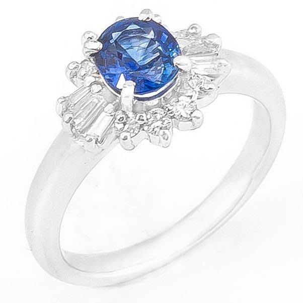 【JHT 金宏總珠寶/GIA鑽石專賣】0.81ct天然藍寶鑽戒/材質:PT900(S00021)
