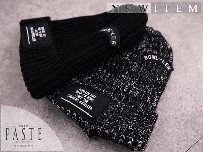 Copy&Paste【特價$180】一律實品拍攝~韓國復古英文字母刺繡貼標布章混色針織反摺毛帽/毛線帽 (預購) 情侶款