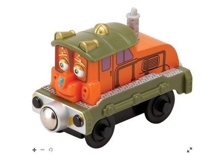 愛卡的玩具屋㊣ 正版CHUGGINGTON 恰恰特快車 火車寶寶@ 磁性 原木小火車頭 @-Calley 卡利