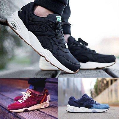 男鞋R698黑絲綢跑步鞋復古休閑鞋透氣網面女鞋情侶鞋