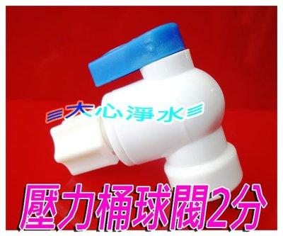 ≡大心淨水≡儲水桶球閥(藍白)2分牙2分管~~壓力桶/鋼桶/淨水器/過濾器/逆滲透/RO