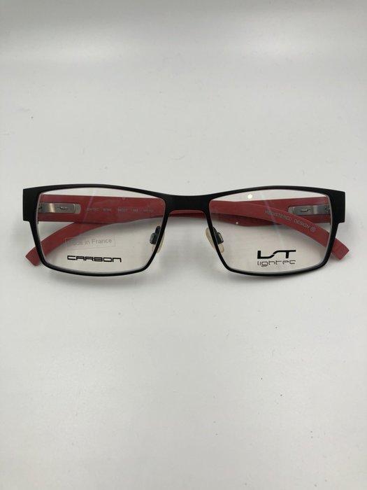 頂傑 Lightec 紅色黑框碳纖維眼鏡 - 6786L