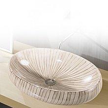 5Cgo 【宅神】含稅會員有 520723920274 藝術盆台盆洗手盆陶瓷盆橢圓台上盆面