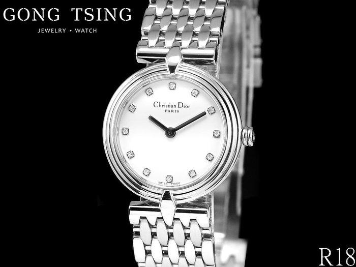 【公信精品】 迪奧 (Dior) 女錶 D68-100 原廠12顆鑽白色面盤 25MM 石英機芯