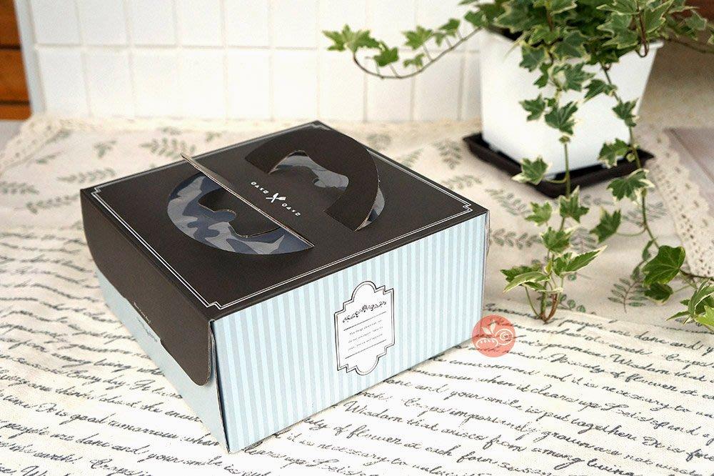 6吋派盒_紳士甜點附內襯_133056◎6吋.手提.蛋糕.提盒.手提盒.紳士甜點.包裝盒.附白盤