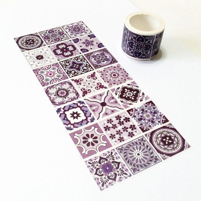 麒麟紙膠帶 紫花磚