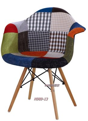 【DH】商品貨號N989-13稱《迪斯》扶手彩色布餐椅。俏麗色系。雅緻造型。主要地區免運費