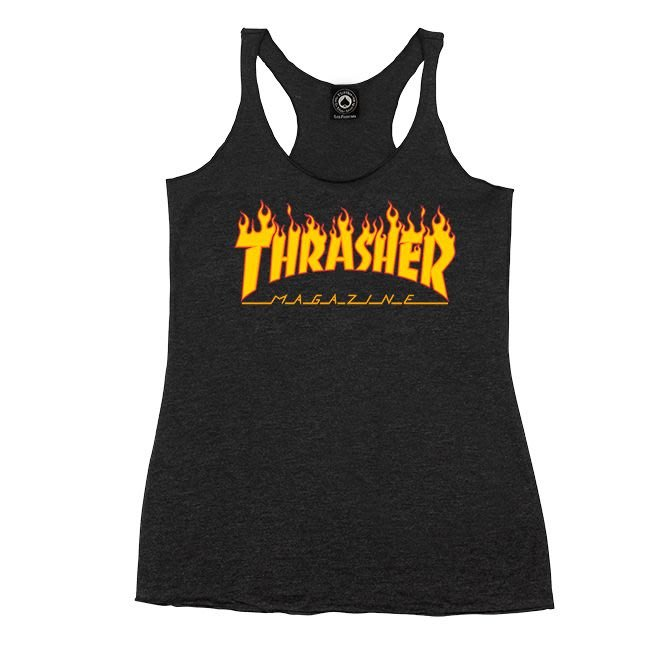 [CABAS滑板店] THRASHER GIRL THRASHER FLAME LOGO |背心 火焰