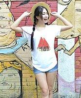 【0504新品優惠】長版無肩線圓領上衣T恤 - M L XL - 三種尺碼女版 【Wawa Yu品牌服飾】「夏天的西瓜」