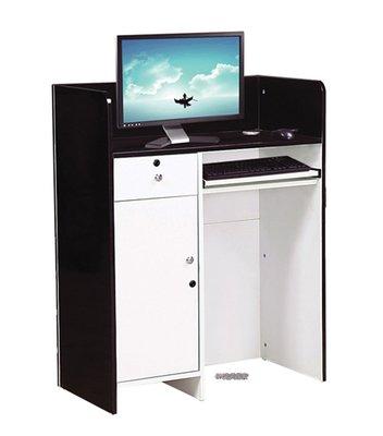【DH】商品貨號N897-2商品名稱 《冰島》2.3尺灰白色多功能桌,可作收銀檯,接待櫃台,代客泊車接待櫃