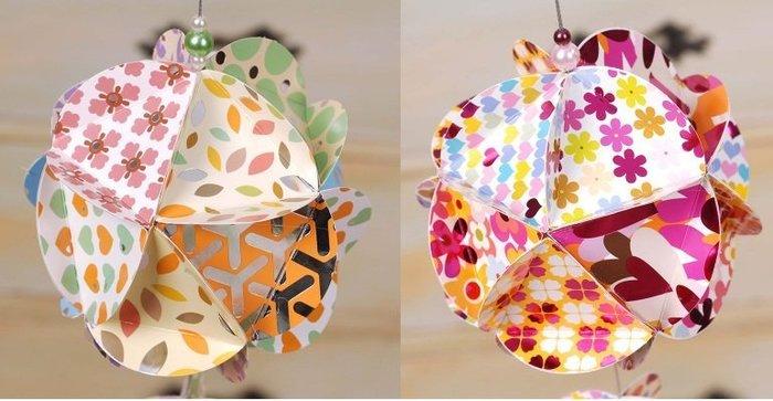 2~DIY 製作~DIY 製作紙藝花球彩球掛飾套裝paper globes生日party聚