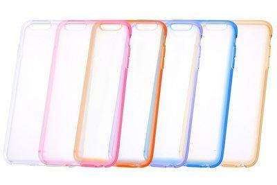 尼德斯Nydus~* 日本正版 孔位精準 軟殼 手機殼 背面透明 邊框式 共6色 5.5吋 iPhone6+