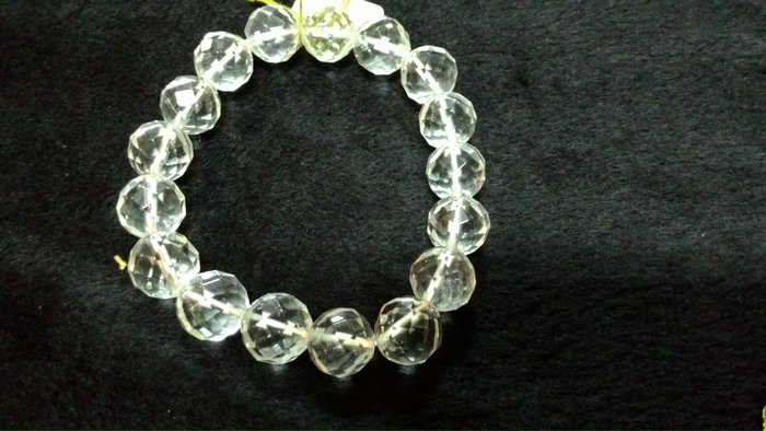 天然白水晶鑽切手珠鍊【東大開運館】