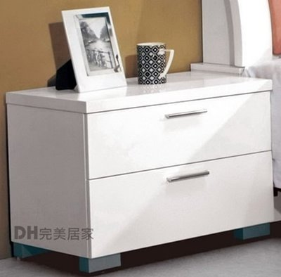 【DH】貨號G063-8《凱洛》1.9尺白色雙抽床頭櫃/床邊櫃˙質感一流˙流暢曲線˙主要地區免運