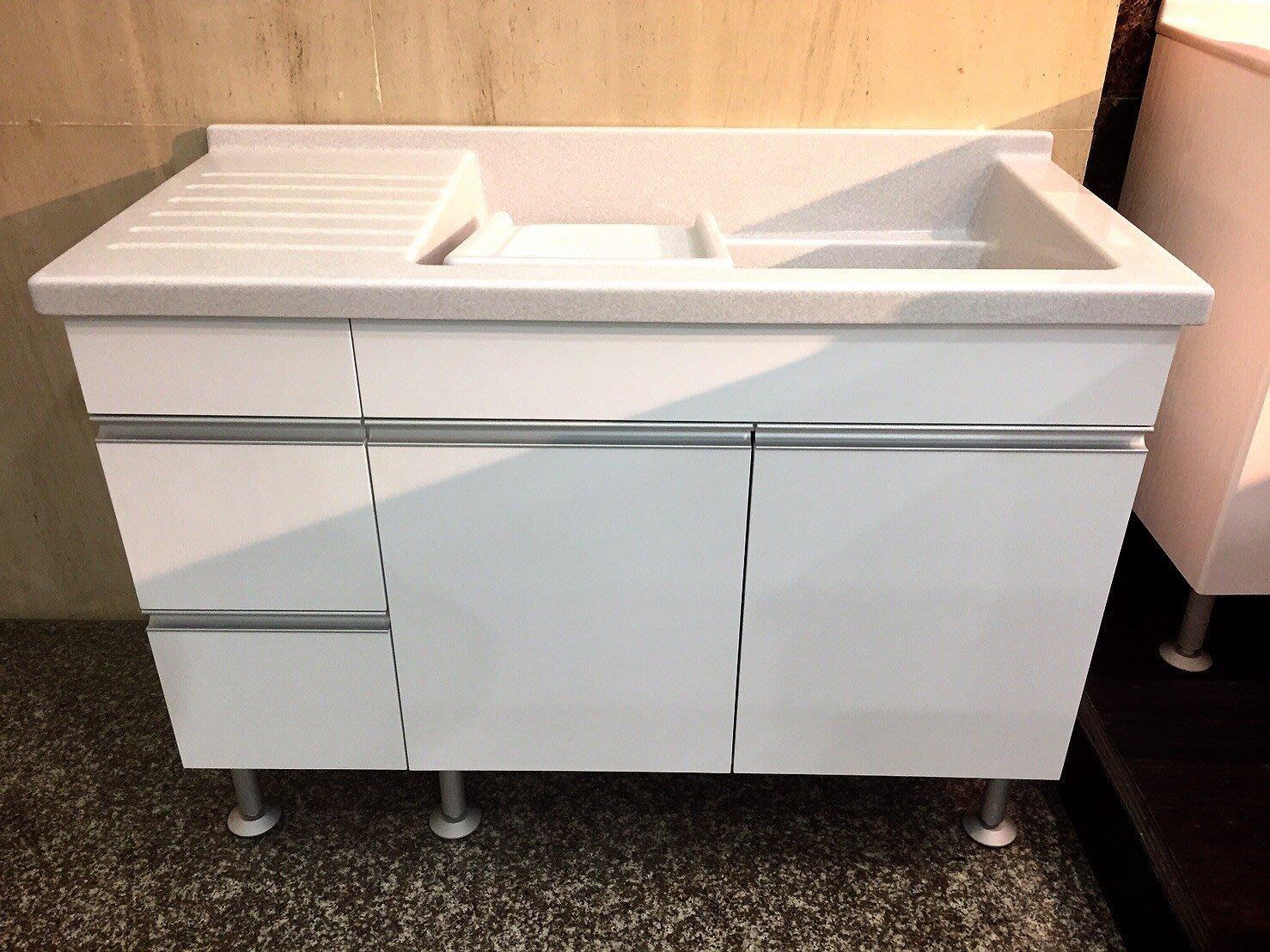 120公分人造石洗衣槽(c行鋁把手)