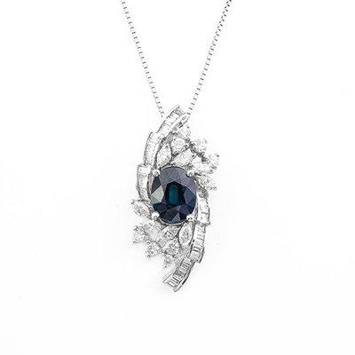 【JHT 金宏總珠寶/GIA鑽石專賣】2.62ct天然藍寶鑽墜/材質:14K(S00028)