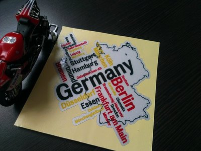 GERMANY 地圖防水貼紙 BENZ A180 A250 B180 B200 C180 C250 W205 W204