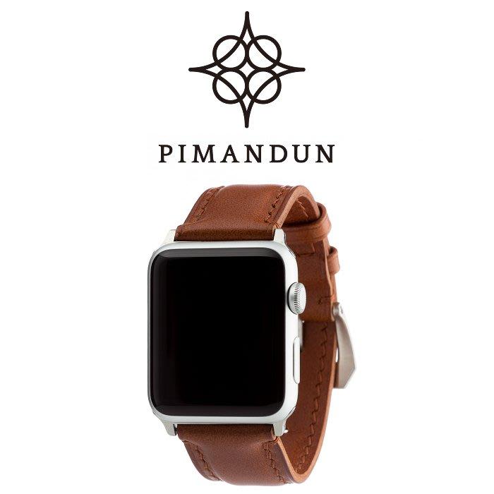 【皮曼頓】個性Apple Watch 42 44mm PANERAI沛那海 ROLEX勞力士 24mm錶帶 #赫爾棕