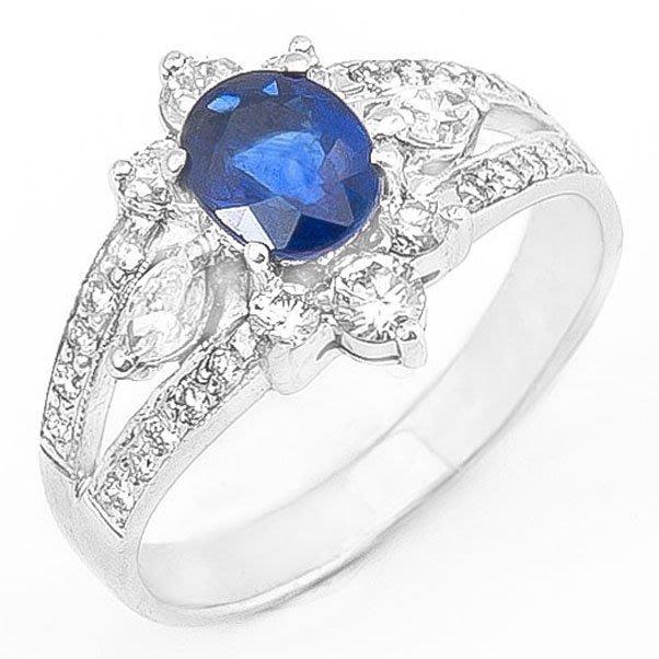 【JHT 金宏總珠寶/GIA鑽石專賣】1.13ct天然藍寶鑽石戒指/材質:14K(S00015)