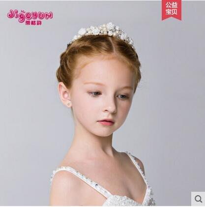 皇冠頭飾兒童髮箍髮飾女童公主髮夾頭箍王冠公主皇冠六一演出頭飾