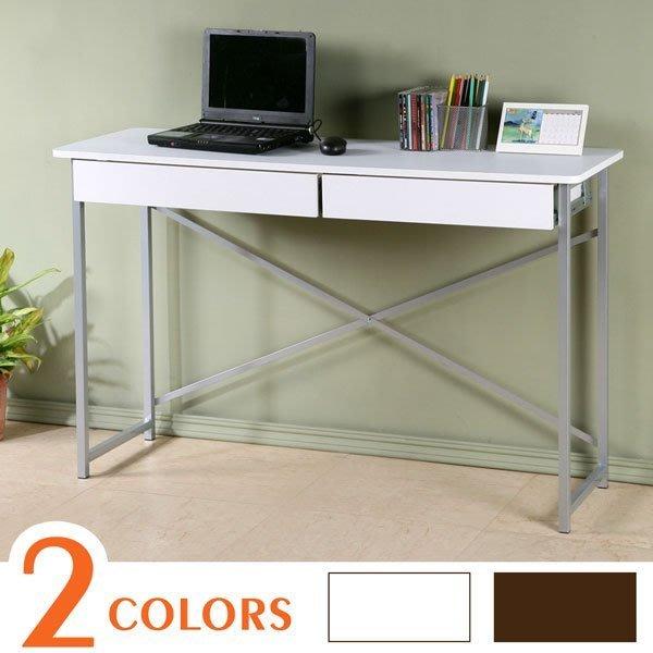 超值附抽工作桌 書桌 工作桌 NB桌 辦公桌 寬120公分 【Yostyle】 DE-991-22(胡桃/純白)