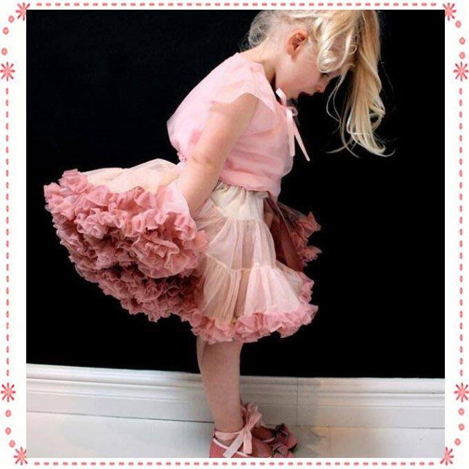 貝克比比屋☆歐美單 多層柔軟雪紡篷篷裙/多層紗裙短裙*80cm.90cm.100cm.110cm.120cm.130cm