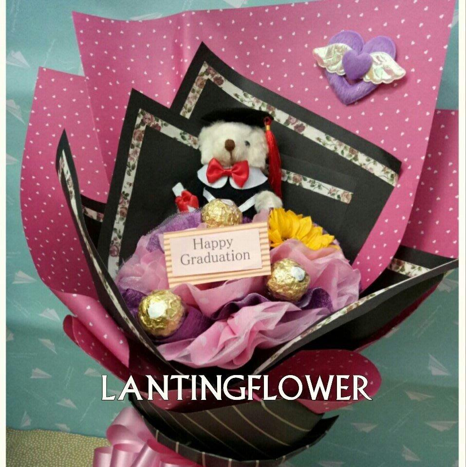 京品花卉/D1款畢業金莎花束