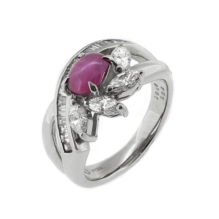 【JHT金宏總珠寶/GIA鑽石專賣】1.22ct星光石造型鑽戒/材質:PT900(JB43-A12)