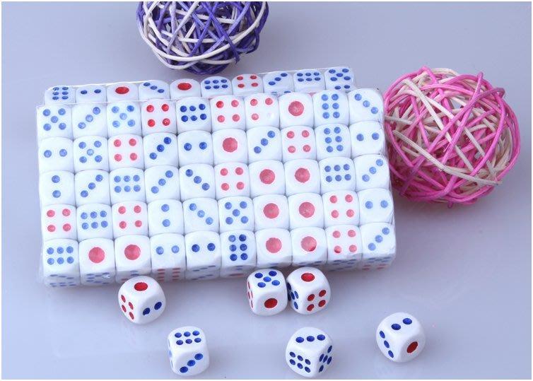 骰子 11.6mm (100顆)麻將骰子 比大小 大小點 夜店 酒吧 ktv 桌遊 必備聖品