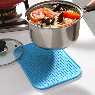 ☜shop go☞【L124】廚房創意加厚長方形多功能矽膠隔熱墊 防滑墊 桌面防燙餐墊 耐熱碗墊鍋墊 止滑墊 杯墊 防燙