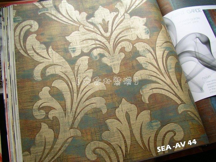 【大台北裝潢】美國Seabrook進口壁紙AV* Kepler 古典圖騰(3色)