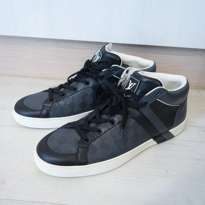 《十九號二手屋》台南二手精品LV Louis Vuitton Damier 棋盤格 高筒男鞋 球鞋