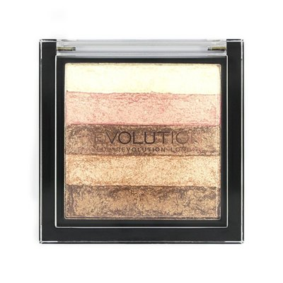 【愛來客 】英國Makeup Revolution Vivid Shimmer Brick - Radiant 高光打亮