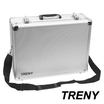 【TRENY直營】TRENY鋁合金工具箱 隔板分層 鑰匙可上鎖 手提工具箱 肩背工具箱 側背工具箱 0927