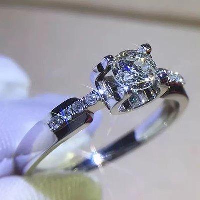 卡迪新款微鑲結婚鑽戒高碳鑽女款2克拉9...