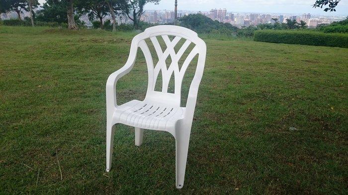 白色塑膠椅4張/件(高背設計,椅腳底附止滑墊)BROTHER兄弟牌白色高背塑膠椅,台灣製造!