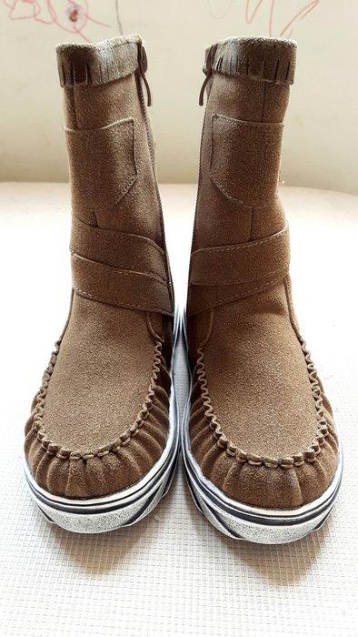男女童中桶星星仿舊靴 加毛靴