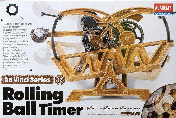 【ACADEMY系列】NO.12 滾珠計時器 - 以達文西手稿設計,可動式組裝模型,附圖解說明書