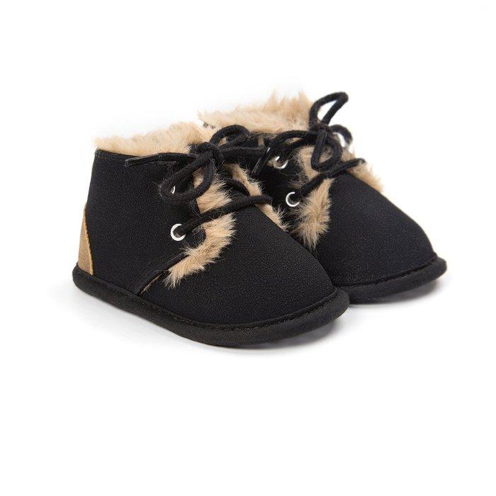 森林寶貝屋~黑色休閒保暖鞋~學步鞋~幼兒鞋~寶寶鞋~嬰兒鞋~學走鞋~童鞋~綁帶設計~保暖舒適~彌月贈禮~特價1雙175元