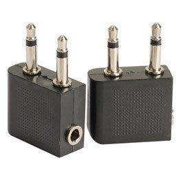 (飛機立體聲)航空耳機轉換插頭 3.5mm 音源孔/轉接頭