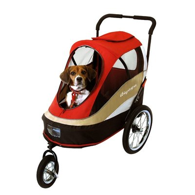 IBIYAYA 依比呀呀-FS980二代兩用寵物推/拖車-紅【免運】寵物推車/自行車/腳踏車