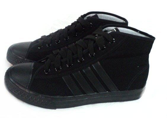 美迪-中國強-CH88小半筒帆布鞋-50周年紀念款~台灣製~全黑