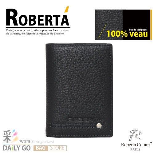 (特價款)ROBERTA諾貝達真皮夾牛皮包卡片夾男夾-名片夾23159-1/23159-2黑/咖啡