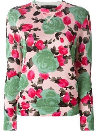 全新真品~~Marc by Marc Jacobs Jerrie Rose Printed Sweatshirt (S)