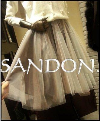山東:KBF SNIDEL DAZZLIN 漸層雙色雙層紗布超蓬鬆澎澎及膝紗裙