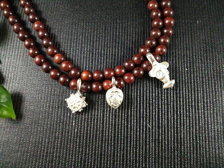 【弘慧堂】 S925銀佛珠卡子計數器 藏式卡子優質佛珠DIY銀飾配件計數夾