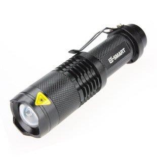 【限時特賣】E-SMART 進口 CREE XM-L2 SK98 LED 5檔變焦強光迷你手電可充電18650